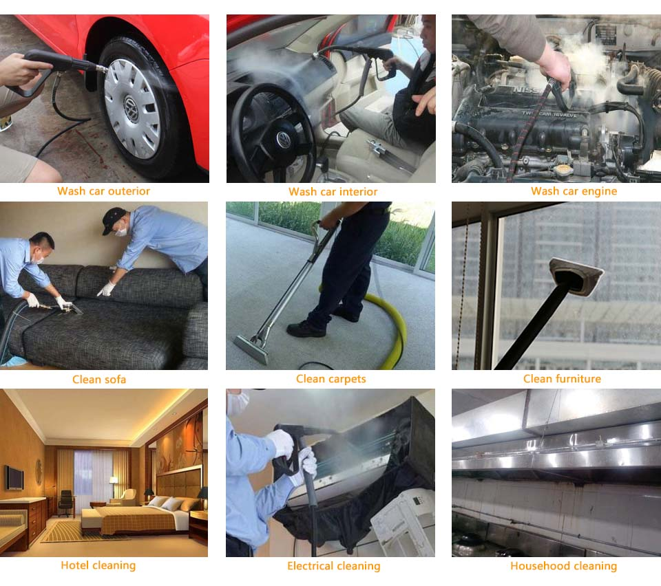 portable steam cleaner, car steam cleaner, steam car wash machine, steam washing machine, steam cleaning machine, industrial steam cleaner, professional steam cleaner